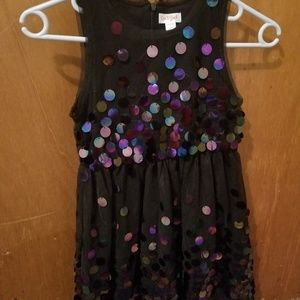 Brand new formal black sequined dress